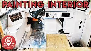 progress 10 bus conversion painting interior youtube