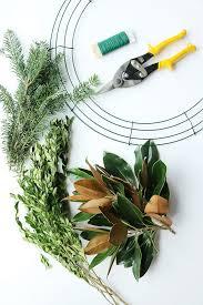 wreath supplies diy fresh magnolia mixed branch wreath darleen a