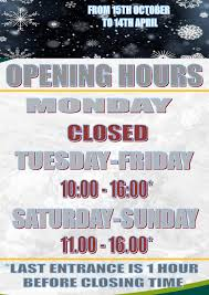 winter season is coming and new opening hours geopark główne