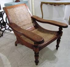 a caned plantation chair in seating