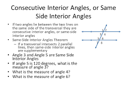 Same Side Interior Angles Definition Geometry Unit 3 Angles And Transversals Ppt Video Online Download