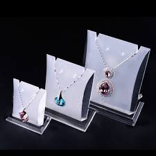 earring necklace jewelry display images Lot of 3 acrylic jewellery display holder earrings necklace jpg