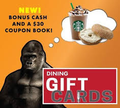dining gift cards cus store gorilla dining gift card