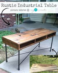 Diy Desk Legs Diy Desk Legs Learn To Make Your Own Beautiful Rustic Industrial