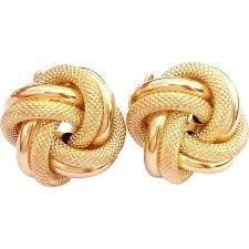 png gold earrings stunning italy unoaerre vintage 14 karat yellow white gold
