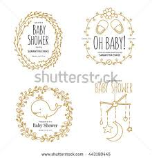 baby shower invitation templates set floral stock vector 457530241