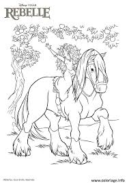 coloriage princesse disney cheval rebelle dessin