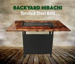 backyard hibachi grill torched steel model