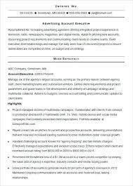 good resume for accounts executive responsibilities for marketing advertising agency resumes advertising agency sle resume 7