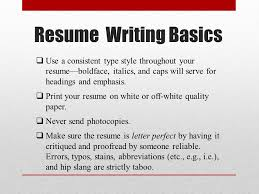 Reliable Resume Basic Resume Writing Ppt Video Online Download