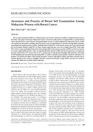 awareness and practice of breast self examination among malaysian