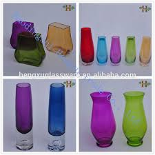 Clear Glass Square Vase Transparent Square Tapered Glass Vases Tall Large Clear Vase Glass