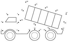 dump truck connect the dots count by 2 u0027s starting at 1