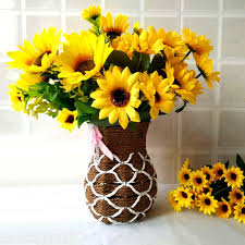 sunflowers decorations home sweet artificial sunflowers 1 bunch 7 15 heads sunflower decorations