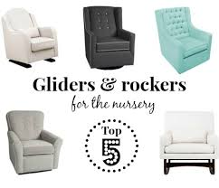 top 5 modern comfortable and affordable nursery rockers and