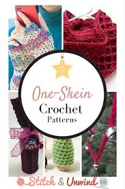 Crochet For Home Decor by Tis U0027 Almost The Season Decorating U0026 Gift Giving One Skein