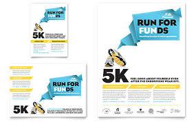 charity run flyer u0026 ad template design campaign pinterest