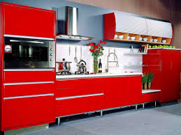 red modern kitchen design red stylish modern kichen cabinet contemporary cupboard