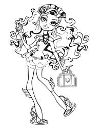 lagoona blue curly hair coloring page kids coloring pages