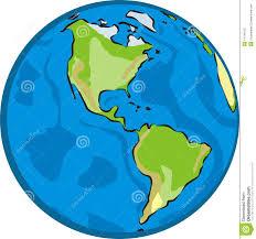 Map Of Western Hemisphere Western Hemisphere Stock Photo Image 14744010