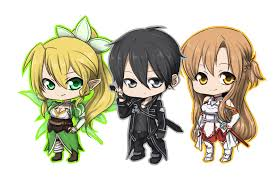 chibi sao chibi anime manga pinterest sword art online sword art