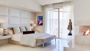 Padded Wall Headboard Bedroom Wall Paneling With Statue Bedroom Contemporary And Glass