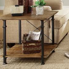 wrought iron end tables homelegance factory rectangular end table w wrought iron base