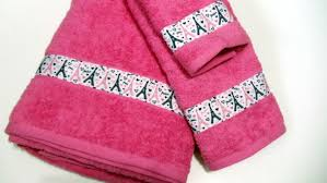 eiffel tower bath set pink bath towel hand towel wash