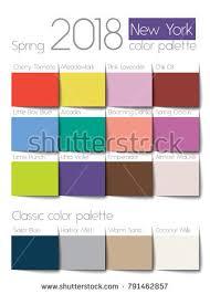 spring color spring 2018 color palette new york stock vector 791462857 shutterstock