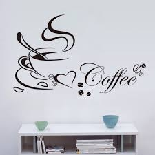 popular coffee wall stickers buy cheap coffee wall stickers lots newest 1 pcs creative coffee wall stickers living room coffee shop kitchen wall stickers home diy