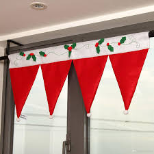 Window Decorations For Christmas by Christmas Santa Hat Window Valance 36 16 5 Great Christmas