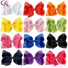 cheap hair bows 5 inch jojo hair bow rhinestone hair clip diamante hair bow for
