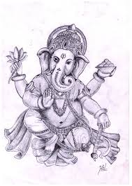 pencils drawing of cute baby ganesha drawing of sketch
