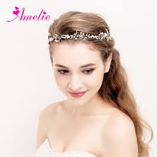 floral hair accessories headband wedding bridal headpiece gold pearl bridal floral hair
