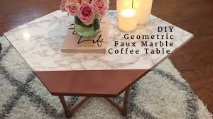 faux marble coffee table diy geometric faux marble coffee table youtube