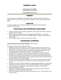 cover letter objective for accountant resume resume objective for