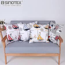 sailboat home decor sailboat printed linen cushion cover pillowcase bed car home decor