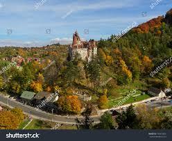 bran castle known draculas castle autumn stock photo 734915656