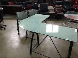 L Shaped Black Glass Desk Black Glass L Shaped Desk Foter