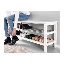 Bench With Shoe Storage Tjusig Bench With Shoe Storage Black Ikea