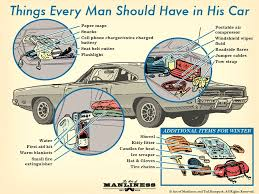 his and items what every should keep in his car the complete guide the