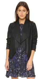 cupcakes and cashmere callie drape front leather jacket shopbop