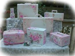 50 best shabby chic suitcase and storage box images on pinterest