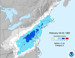 Map Of The Northeast Regional Snowfall Index Rsi Snow And Ice National Centers