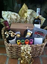 specialty wine gift basket for fundraiser raffle includes 10
