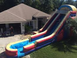 Backyard Slip N Slide Inflatable Water Slides And Dry Slide Rentals