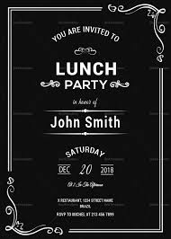 lunch invitation chalkboard rehearsal lunch invitation design template in psd word