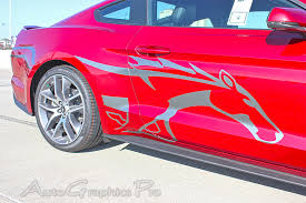 2015 2016 2017 ford mustang steed pony style side stripes