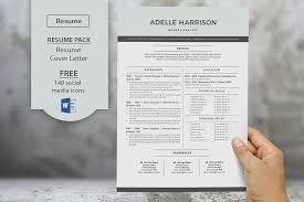 Modern Word Resume Templates Modern Resume Templates For Word Resume Templates Creative Market