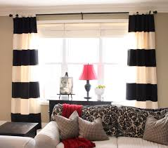 Red Curtains Living Room Home Design Red Living Room Knockout Natural White Black Decor